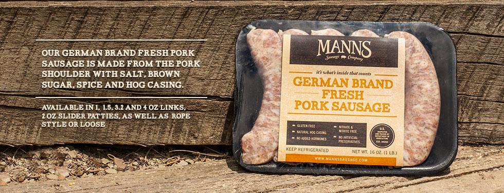German Brand Fresh Pork Sausage